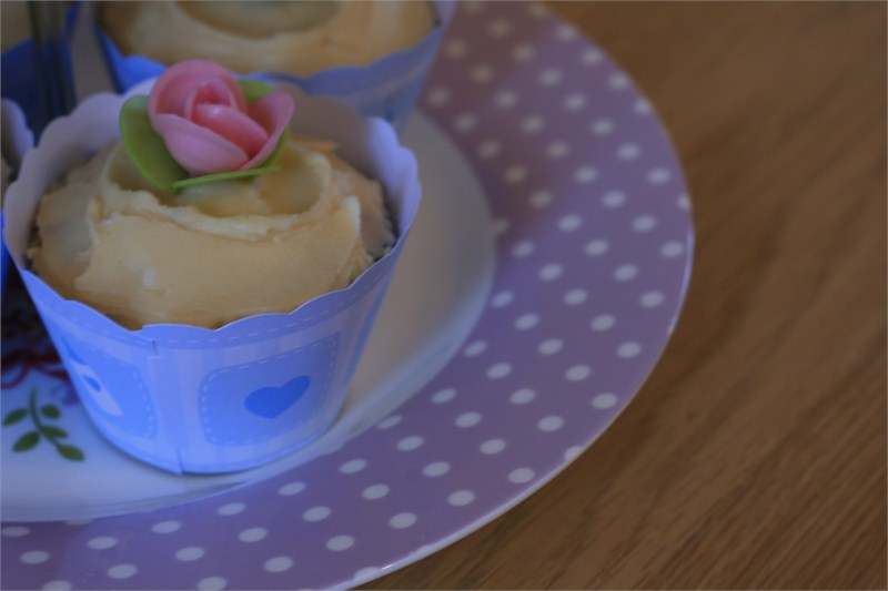 Earl Grey Cupcakes, celebration for the twins :)