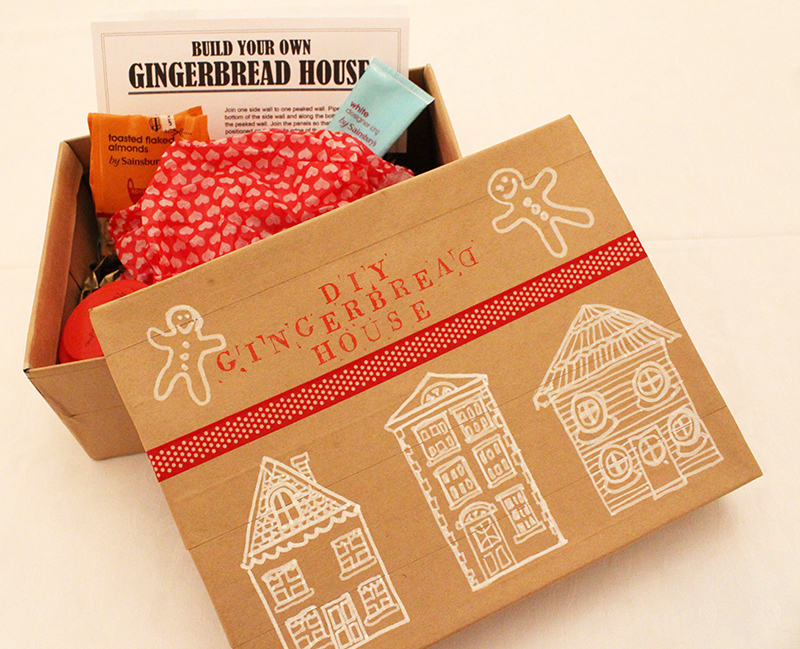 Homemade DIY Gingerbread House Kit
